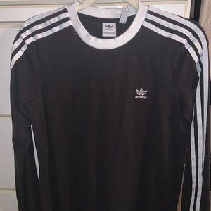 Women's adidas long sleeve stripe black shirt M